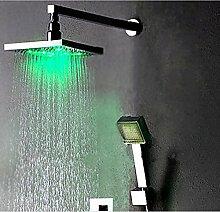 Gowe Wand montiert LED Regendusche Wasserhahn Set