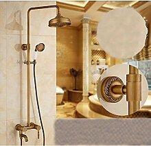 Gowe Wand montiert Messing antik schwenkbarer Auslauf Badewanne Armatur mit Handbrause Wasserhahn