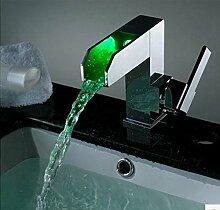 Gowe Waschbecken Mixer Wasserhahn LED Wasserhahn LED Wasserhahn LED Badezimmer Mischbatterie waschbecken Armatur kit023