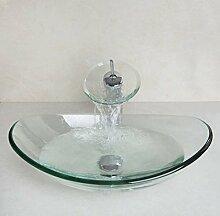 Gowe Waschbecken Set Rund Glas mit
