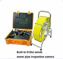 Gowe Wasserdichte Niveauausgleichs Bild Echtzeit Video Rohr Inspektion Kamera mit eingebautem 512Hz Sender Sensor Größe: 1/10,2cm; Signal System: NTSC