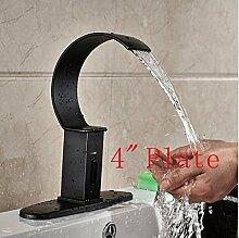 Gowe Wasserfall Automatische Sensor Waschbecken Wasserhahn für Kaltwasser Armatur Wasserhahn w/Deckel