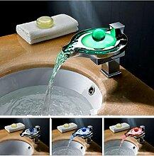 Gowe wassersparende Farbwechsel LED Wasserfall