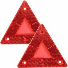 GOZAR 2Pcs Dreieckige Seite Red Reflektoren Für
