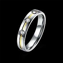 GOZAR Drei Zirkone Silber Edelstahl Ring Frauen Männer Paar für immer Liebe Geschenk - Frauen - 6