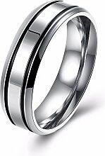 GOZAR Silber Edelstahl Frauen Männer Paar Liebhaber Ring Schmuck Geschenk für Hochzeit - Mann - 8