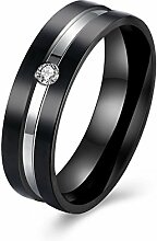 GOZAR Zirkon Kristall Frauen Mem Paar Geschenk Ring Edelstahl einzigartigen Schmuck für die Hochzeit - Mann - 9