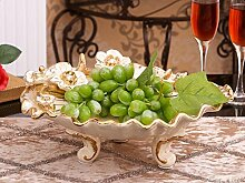 GOZLL Europäische Keramik Obstteller / Wohnaccessoires / Obstteller / Schmuck / Wohnzimmer-Dekoration Kreativ / Luxus Obstschale