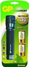 GP LED Taschenlampe inkl. 2 x 13AU und 3W CREE LED