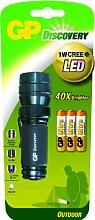 GP LED Taschenlampe inkl. 3x 24AU und 1W CREE LED