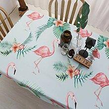 GQAI Tischdecke mit Flamingo-Motiv, Bedruckt, für