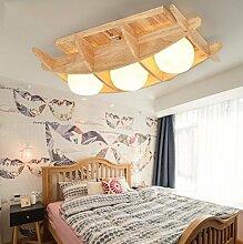 GQLB Deckenleuchte minimalistischen japanischen Balkon Schlafzimmer 3 Wohnzimmer W LED Deckenleuchte, 3 Leiter