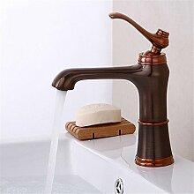 GQLB kreative Kupfer dusche Wasserhahn braun alte Heiß und Kalt waschen Badezimmer Armatur