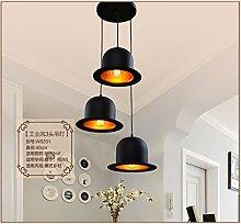 GQLB Kronleuchter Hängeleuchter Lampen Retro Creative Industries Hüte Licht Kronleuchter (Durchmesser 255 mm), 3 Leiter