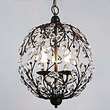 GQLB Minimalistische Eisen Jugendstil Kronleuchter Kronleuchter Lampe (420 * 470 Mm) Wohnzimmer