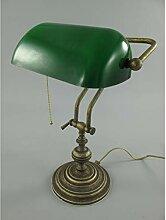 GR Bankerlampe aus Messing grün Bankers Lamp