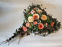 Grabgesteck mit Frischen Blumen,Von Herzen