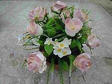 Grabgesteck Rosen/Hortensien rose/Hortensien rosa