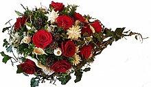 Grabgesteck zur Bestattung -rot weiß mit natur,