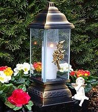 ♥ Grablampe Rose Ornament Bronze 34,0cm