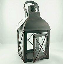 Grablaterne Grablampe schwarz mit braun. H 21,5cm