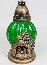 Grablicht, Grablaterne mit Weihnachtsmotiv, mit 45