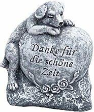 Grabschmuck Grabstein Hund Danke für die schöne