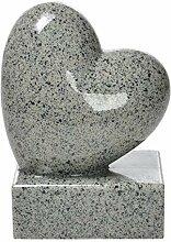 Grabschmuck-Herz auf Sockel Höhe 17,5cm Kunstharz