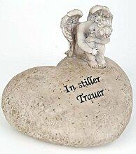 Grabschmuck Herz mit Engel und Inschrift In