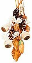 Grabschmuck-Sortiment, orange-natur, 21 Teile