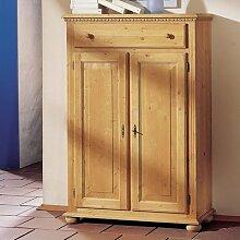 Gradel Valentina Vertiko mit 1 Schublade, 2 Türen und 2 Einlegeböden in Fichte massiv - antik lackier