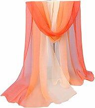 Gradient Bunte lange Schal Leichte Sonnenschutz Schals für Frauen ( Farbe : 05 )