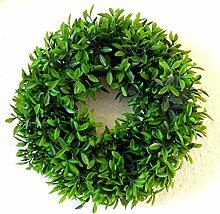 Gräserkranz Kunstpflanze grün Kranz Türkranz Deko Dekoration Blume Gräser ca. 30cm