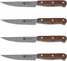 GRÄWE Steakmesser 4 Stück Palisander-Holzgriff