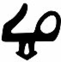 Graf Dichtungen F1556 Lippendichtung für Alu- und Kunststofffenster Salamander Fenster, Schwarz
