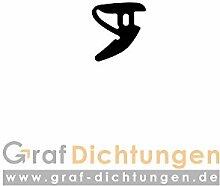 Graf Dichtungen F3478 Dichtung für Wicona,Heroal oder Schüco Fenster/Türen, Grau