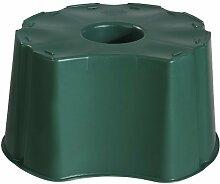GRAF Regentonne-Unterstand für rundeTonnen mit 210 Liter und eckige mit 203 Liter Fassungsvermögen, Regentonnen-Sockel, Höhe: 33 cm, in grün