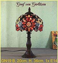 Graf von Gerlitzen Tiffany Stand Tisch Lampe Tischlampe Tiffanylampe GN19