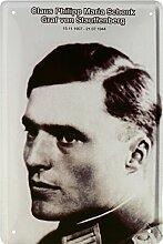 Graf von Stauffenberg Deutsches Reich Blechschild