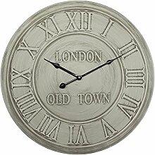 Grafelstein Wanduhr London antik grau gewischt aus