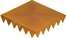 grafenstahl Trittplatte Vintage 2er-Set 30x30x5,5cm (Rostfarben)