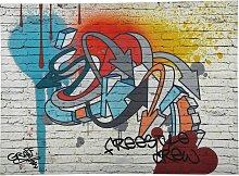 Graffiti-Bild, 80x110, mehrfarbig