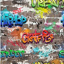 Graffiti Tapete Urban Brick Luxus Schwergewicht