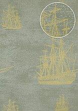 Grafik Tapete Atlas SIG-584-4 Vliestapete glatt im