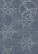 Grafik Tapete Atlas SIG-585-3 Vliestapete glatt im