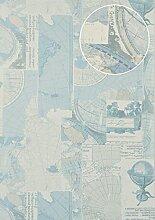 Grafik Tapete Atlas SIG-586-2 Vliestapete glatt im