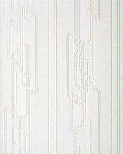 Grafik Tapete Streifentapete EDEM 027-26 Elegante Design Streifen Tapete Weiß Silber