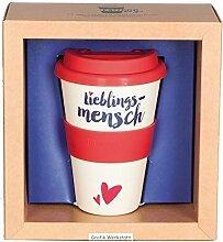 Grafik Werkstatt Becher mit Deckel | Kaffee-Tasse