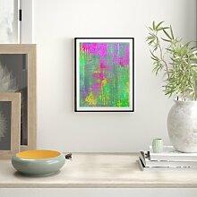 Grafikdruck Abstract 5 East Urban Home Größe: 91
