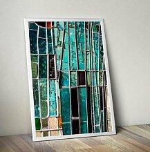Grafikdruck Abstract 7 East Urban Home Größe: 91